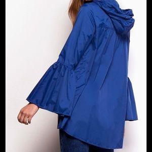 Jack by BB Dakota Sz M Into  Raincoat Blue Womens